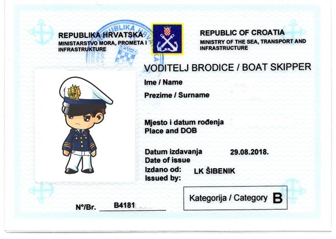 Küstenpatent kroatischer Bootführerschein Gültigkeit und Anerkennung