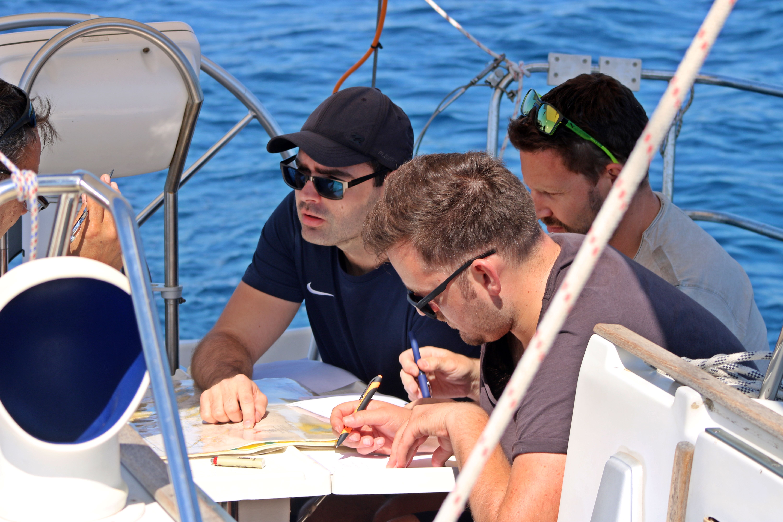 Skippertraining Tisno gemeinsam lernen Skippertraining Murter Bootsführerschein Kroatien